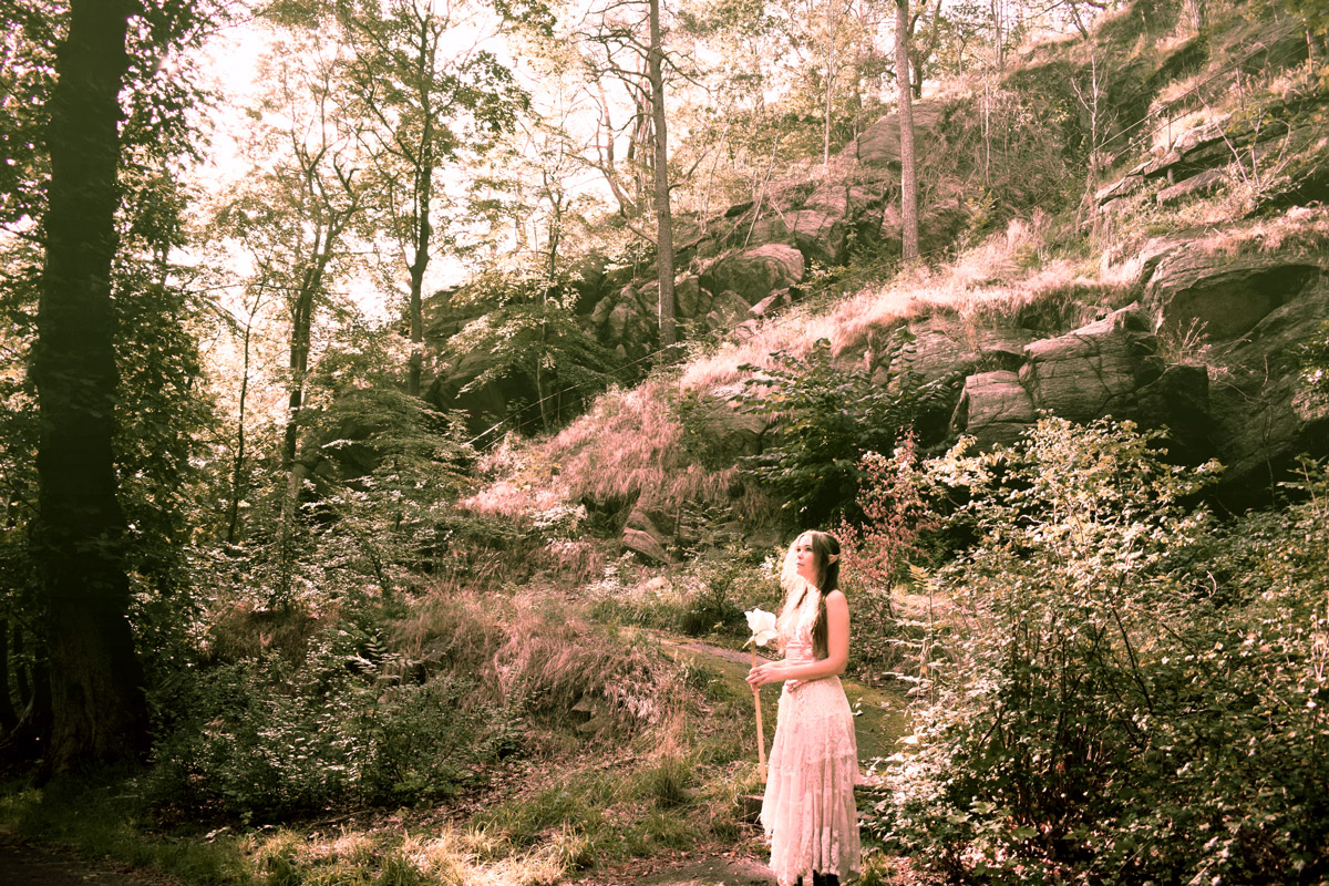 Portrait of Josefin Berger in the forest as an elf