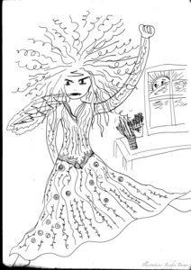 Very angry dragon princess